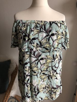 Warehouse Top 38 M neu Off Shoulder Sommer Frühling Blumen Flower Muster