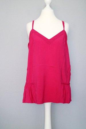 Warehouse Top mit V-Ausschnitt pink