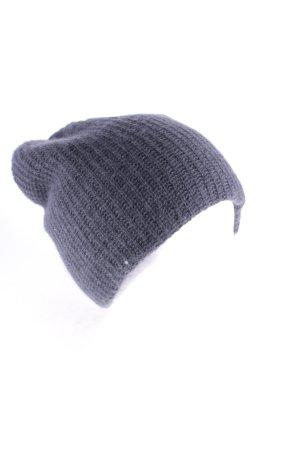 Warm-Me Chapeau en tricot gris foncé style classique