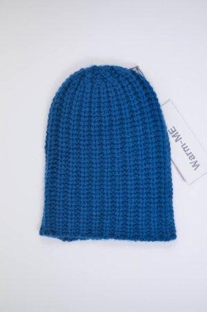 Chapeau en tricot bleu pétrole cachemire