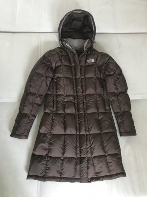 The North Face Down Coat brown-light grey nylon