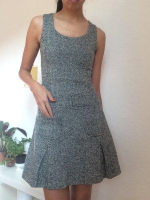 Vestido de lana gris-gris oscuro Lana