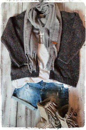 Oversized Jacket grey alpaca wool