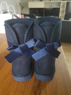 Colloseum Fur Boots blue-dark blue