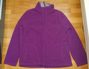 Warme Damen Fleece Jacke/ Teddyjacke/ in lila/ Gr. M/ Canda