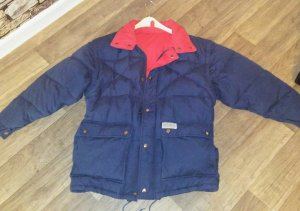 Down Jacket blue-red