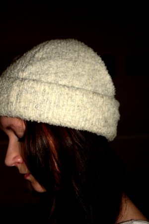 Eisbär Chapeau en tissu blanc-crème