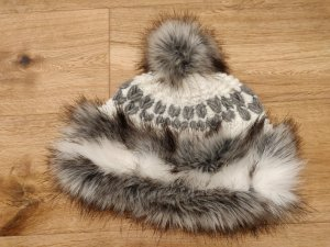 Fur Hat white-grey