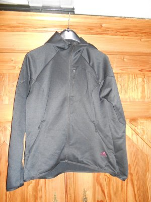 Adidas Giacca con cappuccio nero Tessuto misto