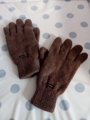 Gant à doigts gris brun