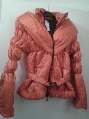 warme Jacke besonderer Schalkragen Steppjacke Parker Puffer und Gürtel - VESTINO (italienische Mode)