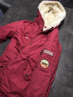 Warme Jacke in Rot