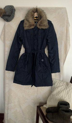 warme Jacke von LTB in einem tollen blau und Fakefur Pelzkragen