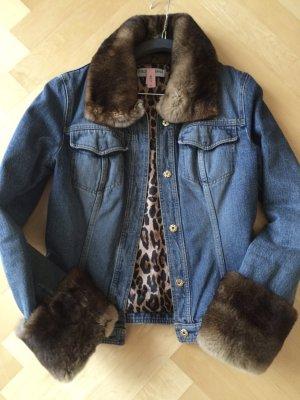 Warme Jeansjacke von Dolce & Gabbana mit Nerzbesatz in Größe M