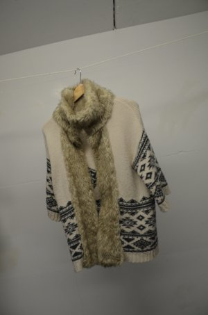 Forever 21 Fur Jacket multicolored wool