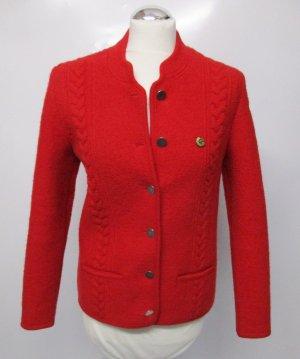 Giesswein Folkloristische jas rood-baksteenrood Scheerwol