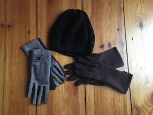 Warme Mütze und zwei Paar Handschuhe - der Winter kommt! Zugreifen!