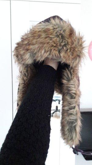 Warme Mütze Wintermütze Fell ungetragen