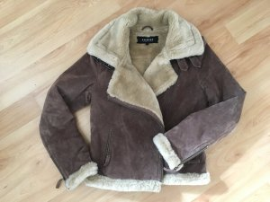 Warme Oakwood Lederjacke