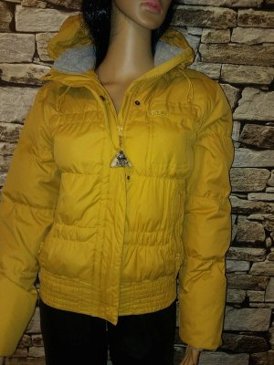C&A Veste courte jaune foncé-jaune tissu mixte