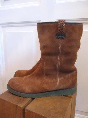 Warme Stiefel von MEXX Cognac Wildleder Ethno Hippie Style Größe 39