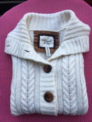 Abercrombie & Fitch Veste en tricot blanc