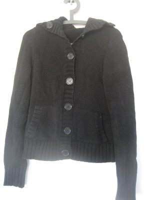 Street One Coarse Knitted Jacket black cotton
