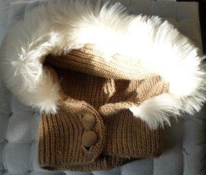Vintage Chapeau en tricot bronze fibre synthétique