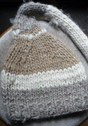 Chapeau en tricot bronze coton