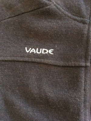 Vaude Smanicato lavorato a maglia marrone scuro Lana