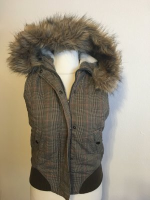 Clockhouse Fake Fur Vest multicolored
