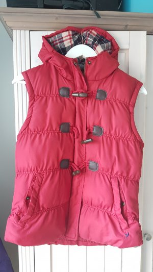 Primark Hooded Vest dark red