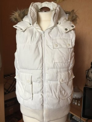 Soccx Hooded Vest natural white