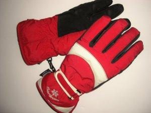 Warme Winterhandschuhe rot/weiß warm gefüttert  NEU TCM