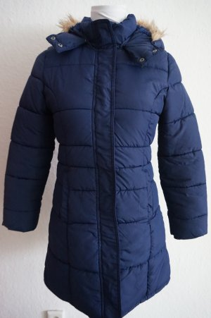 H&M L.O.G.G. Quilted Coat dark blue polyester