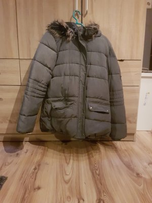 warme winterjacke mit fell