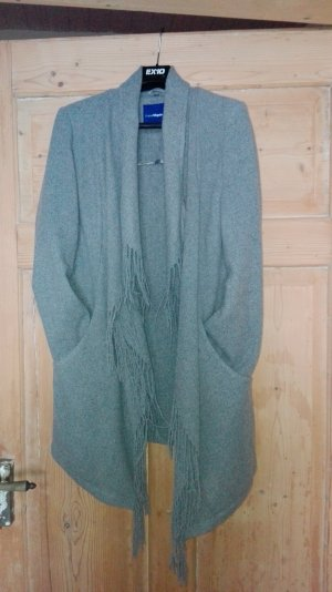 warmer cardigan in grau