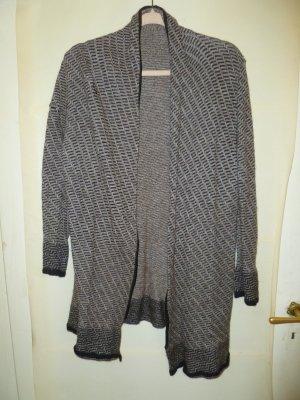 Vintage Veste en laine gris brun-taupe