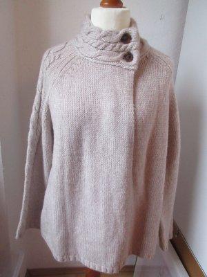 In Linea Cardigan tricotés crème-blanc cassé laine