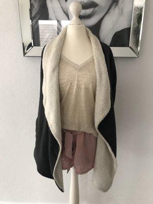 Amisu Knitted Cardigan natural white-anthracite