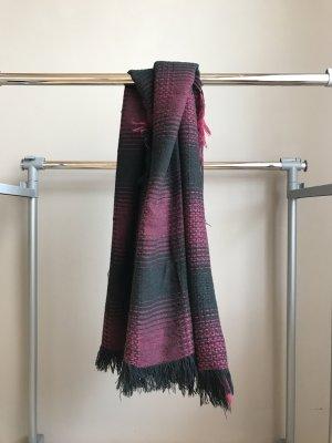 Zara Écharpe en tricot multicolore