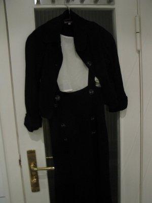 Warmer, eleganter Kostüm: Rock (bis z. Knie) mit passendem Blazer, D36