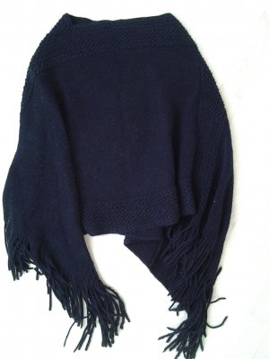 Knitted Poncho black