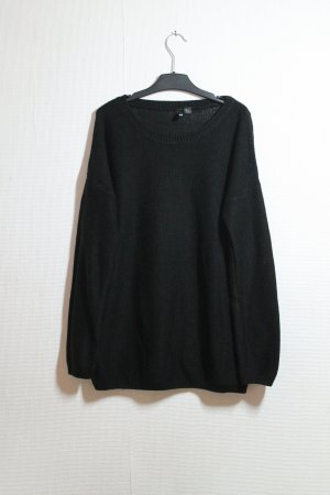 Warmer H&M oversized Strickpulli in schwarz / Minimal