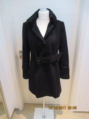 Warmer Kurzmantel von Zara in schwarz Groesse XL