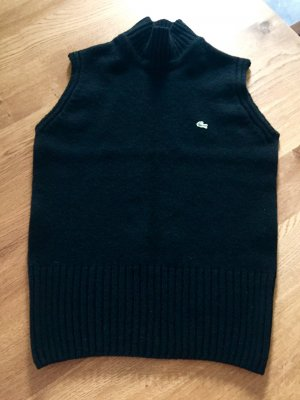 Lacoste Long Cardigan black wool