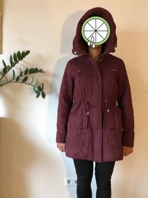 Zara Trafaluc Hooded Coat multicolored