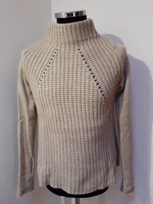 Drykorn Pull à gosses mailles beige laine mérinos