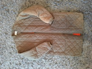 Warmer Oversize Wintermantel/Steppmantel in khaki von Ganni