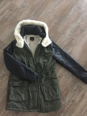 Ann Christine Coat black-khaki